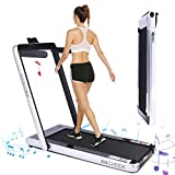 ANCHEER Under Desk Treadmill 2.25HP,Indoor Folding Running Machine for Home Exercise,2 in1 Electric Exercise Treadmillwith Remote Control&Digital Monitor&Bluetooth Speaker.(Silver)