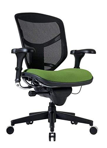 WorkPro Quantum 9000 Series Ergonomic Mesh/Fabric Mid-Back Chair, Lime/Black