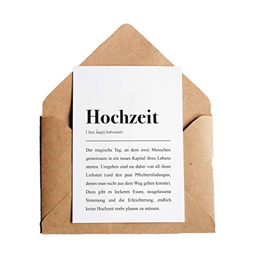 Hochzeit Definition: Grußkarte mit Umschlag