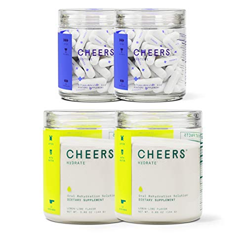 Cheers Restore & Hydrate   After-Alcohol Aid & ORS Combo   for Fast Liver Detox & Rehydration After Drinking Alcohol. Replenish with Our Electrolyte Formula (Single) 1 - My Weight Loss Today