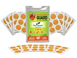Mosquito Guard Repellent Stickers/Patches for Kids (60 Pack) Made with Natural Plant Based Ingredients - Citronella, Lemongrass, Geraniol - Deet Free