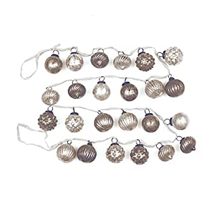 "Creative Co-Op XM1420 Silent Night 72"" L Mercury Glass Ornament Garland, White/Grey At Creative Co-Op, passion is at the heart of all we do - passion for Product, passion for quality, and passion for customer success. It is this passion that grew a c..."