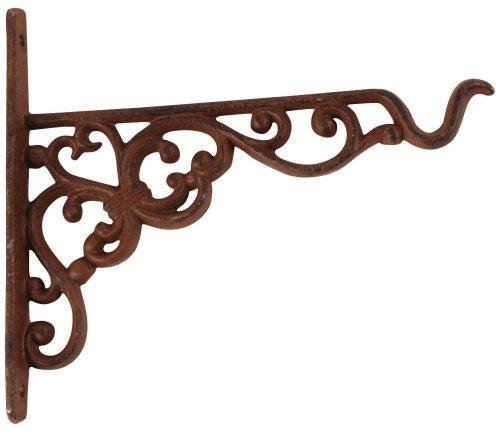 Esschert Design Wandhaken, Blumenhaken für Blumenampel, Hängekörbe, Größe S, ca. 21 cm x 2,4 cm x 19 cm