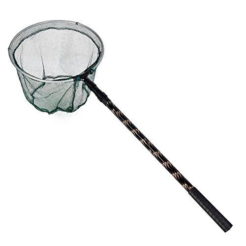 TOOGOO(R) 180cm retrattile telescopico della lega di alluminio Palo pieghevole da pesca Brail guadino Tackle