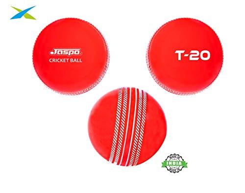 Jaspo T-20 Soft Cricket Balls (Pack of Three) 110 Gm. (RED)