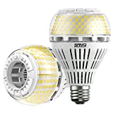 SANSI 250W Equivalent A21 LED Light Bulb, 4000 Lumens E26 LED Bulb with Ceramic Technology, 5000K Daylight Non-Dimmable, 25,000-Hour Lifetime, Efficient, Safe, 2 Pack 27W Energy Saving for Home Garage