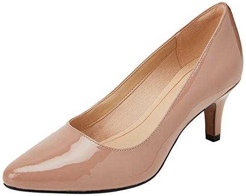 Clarks Isidora Faye, Zapatos de Tacón para Mujer, Beige (Nude Patent -), 39 EU