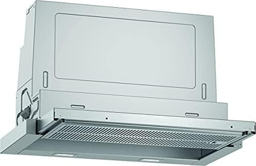Neff D46ED52X1 - Cappa aspirante da incasso, con schermo piatto N50, 60 cm, scarico o ricircolo, classe di efficienza energetica A, colore: Argento metallizzato