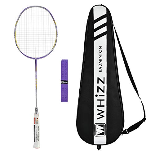 WHIZZ A730 High Modulus Graphite Professional Badminton Racket for Amateur/Intermediate/Club Players (Purple)