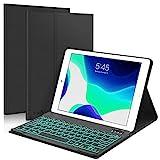 New iPad 10.2 8th 7th Generation 2019 Keyboard Case, Boriyuan 7 Colors Backlit Detachable Keyboard Slim Leather Folio Smart Cover for iPad 10.2 Inch/iPad Air 10.5'(3rd Gen)/iPad Pro 10.5 inch – Black