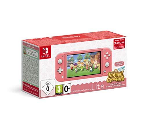 Nintendo Switch Lite Coral + Animal Crossing New Horizons + 3...