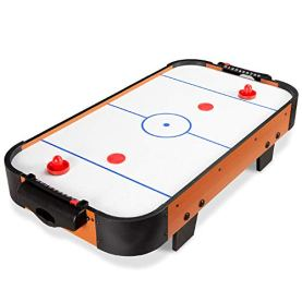 Best Choice Products 40in Portable Tabletop Air Hockey Arcade Table for Game Room, Living Room w/ 100V Motor, Powerful Electric Fan, 2 Strikers, 2 Pucks