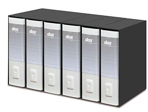 Esselte Dox 1 Raccoglitore a Leva Formato Commerciale D8, A4, Bianco, Confezione da 6 Pezzi