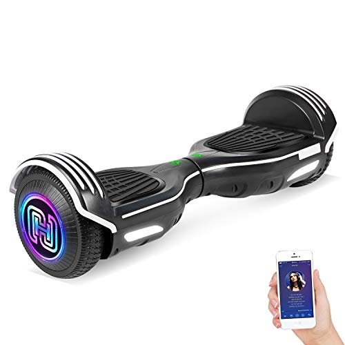 SISIGAD Hoverboard Self Balancing Scooter 6.5' Two-Wheel Self Balancing Hoverboard with Bluetooth...