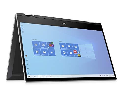 HP Pavilion x360 14-dw0231ng (14 Zoll / FHD Touch IPS) Convertible Laptop (Intel Core i5-1035G1 quad, 8GB DDR4 RAM, 256GB SSD, Intel UHD Grafik, Windows 10) silber
