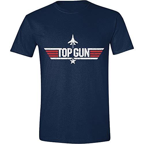 Top Gun Distressed Flag T-Shirt Nero M