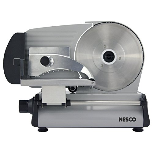 NESCO FS-250, Stainless Steel Food Slicer, Adjustable Thickness, 8.7', Silver