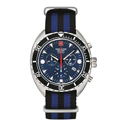 Swiss Alpine Military Herren Uhr Chronograph Analog Quarz 7066.9635SAM NATO-Armband