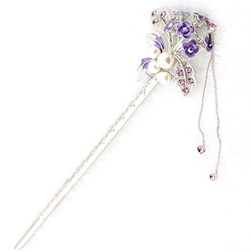 [ミャオミャオ] Miaomyao 簪 かんざし 髪飾り 和装 一本 パール ビジュー 花 フラワー 花束 ブーケ ヘアア...