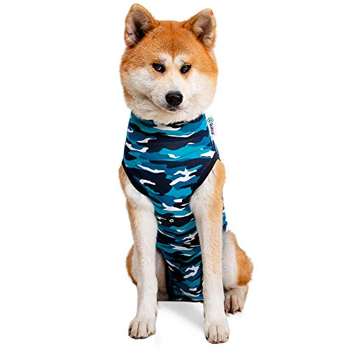 Suitical Recovery Suit Dog, Large, Blue Camouflage