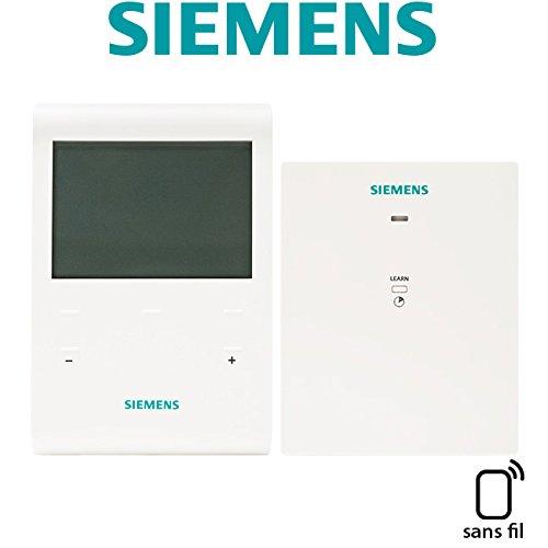 SIEMENS - Pack programmateur fil pilote 4 ordres 3 zones + récepteur RDE100.1FPRFS