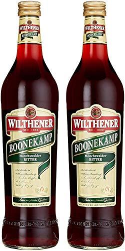 Wilthener Boonekamp, Bitter 43 % vol., bewährter Tropfen aus Kräutern und Wurzeln, Bitterlikör ohne Zuckerzusatz (2 x 0.7 l)