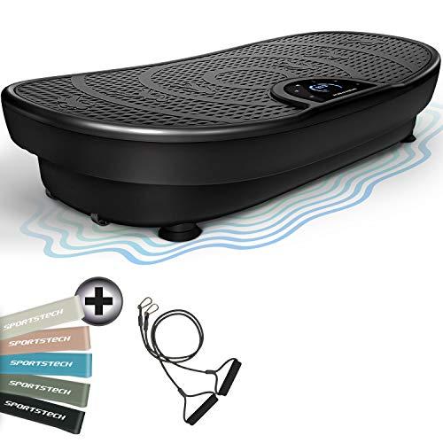 Messe-Neuheit! VP250 Vibrationsplatte im Edlen Curved Slim Design | Fett-Verbrennung & Muskelaufbau | leiser Motor mit 180 stufen | 7+1 Trainingsprogramme inkl. Yoga Option | Bluetooth Lautsprecher