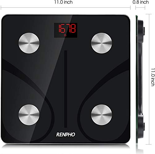 RENPHO Body Fat Scale Smart BMI Scale Digital Bathroom Wireless Weight Scale, Body Composition Analyzer with Smartphone App sync with Bluetooth, 396 lbs - Black 4