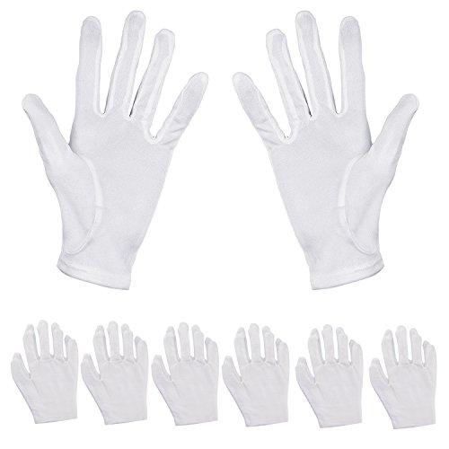 Aboat, 6 paia di guanti idratanti, in cotone, bianchi, per idratare le mani