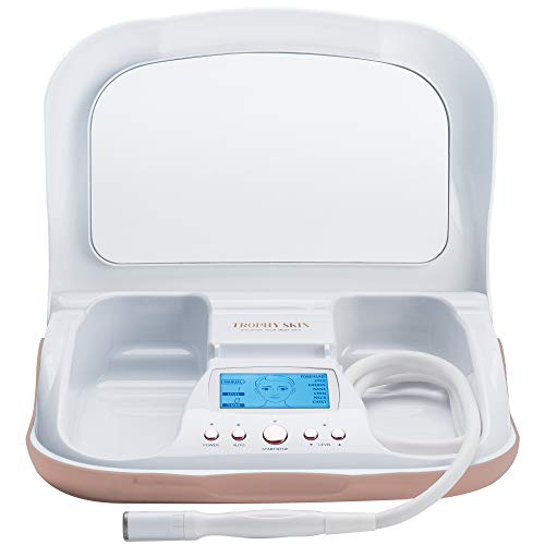 Trophy Skin MicrodermMD at Home Microdermabrasion Machine to Exfoliate and Rejuvenate Skin, Reduce Wrinkles, and Provide Anti-Aging Effects on Face and Body - Diamond Tips and Sensitive Mode