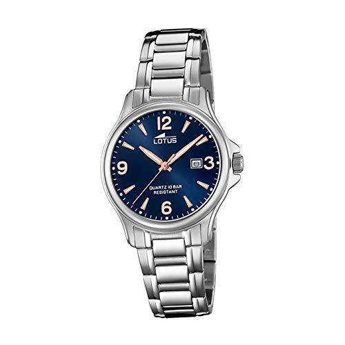 Lotus Damen Analog Quarz Uhr mit Edelstahl Armband 18655/5