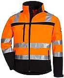 NITRAS Motion TEX VIZ Veste Softshell Haute visibilité   Veste de Travail avec Bordure...