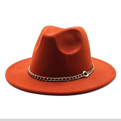 Cappello Fedora Cappello A Tesa Larga Panama da Uomo Jazz Cappello da Donna Cappello Fedora da Uomo-10,56-58Cm