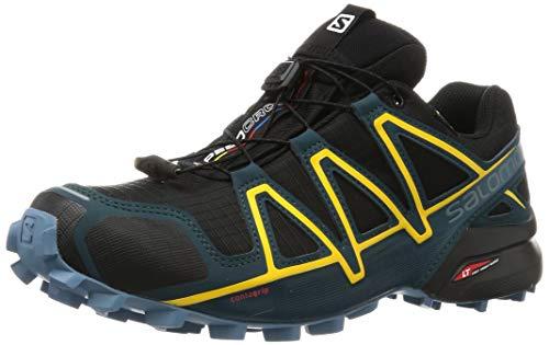 Salomon Speedcross 4 GTX, Scarpe da Trail Running Uomo, Nero Black/Reflecting Pond/Spectra Yellow,...