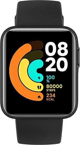 Xiaomi Mi Watch Lite Smartwatch (1,4' TFTLCD-Touchscreen; Messung und Überwachung Herzfrequenz, Schlafzyklus; GPS; Luftdruck- & Höhenmesser; 11 Sportmodi; 5 ATM; 9 Tage Batterielaufzeit) Schwarz