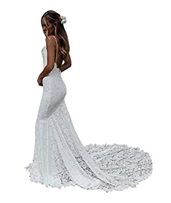 Dress Features:Sexy mermaid style, full body lace, built-in bra, backless, zipper back closure, Sweep/brush train Size Notice: For this lace hoho wedding dress, please check the Size Chart on Left Column before you order, Do Not reference Amazon Size...