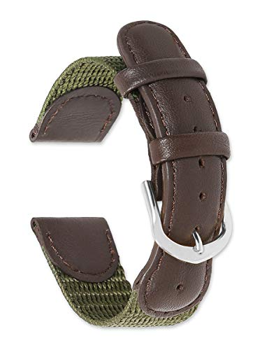 Swiss Army Watch Band Olive 18mm Watch Strap - by deBeer