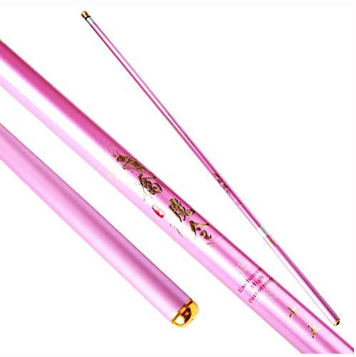 XXL Super Difficile 19 Toni 8h Canna da Pesca Alto Contenuto di Carbonio Filatura Polo Rosa per Ragazze,2.7m
