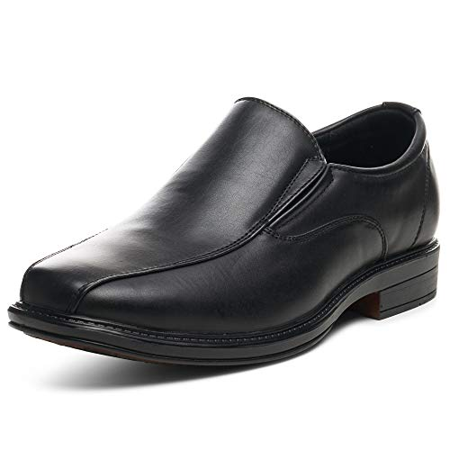 Alpine Swiss Mens Dress Shoes Black Leather Lined Slip on Loafers 9 M US