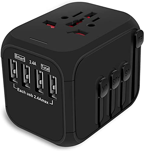 rts Universal Travel Adapter, International All in One Worldwide Travel Adapter and fast charging...