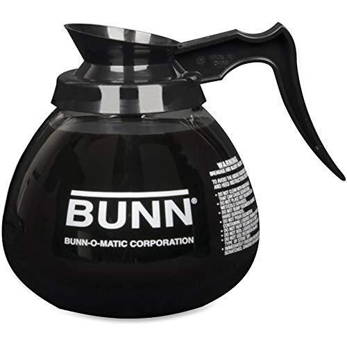 BUNN - Decanter in vetro a 12 coppa per caffè, colore: Nero
