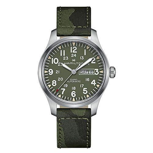 Hamilton Herren-Armbanduhr 42mm Armband Textil Grün Automatik Analog H70535061