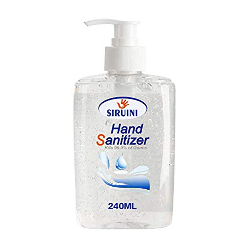 Samury Kids Hand Sanitizer Gel with Pump No Rinse Foam Hand Soap Gel Kill 99.99% of Dirty Stuff Hand Sanitizers Alcohol-Free Wash-Free Disinfecting Cleaner 240ml