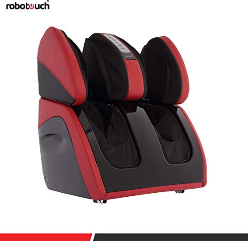 Robotouch Classic Plus Foot and Calf Massager with Sole Rollers (Grey) (Red)