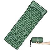 OMORC Matelas de Camping Gonflant avec Large Taille 199 * 70 * 6CM, Tapis de Sol Autogonflants Ultraléger, Coussin...