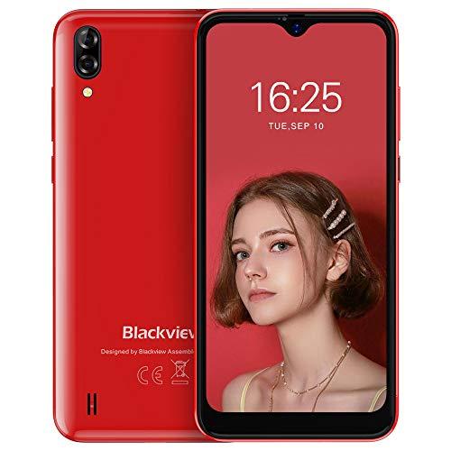 Smartphone Pas Cher, Blackview® A60 Smartphone Débloqué (Ecran Waterdrop 6.1 Pouces, 13MP+2MP+5MP, 16Go ROM-Extensible 128Go, 4080mAh Batterie, Double Nano SIM) Telephone Portable Debloqué, GPS/WiFi