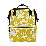 Bolsa de pañales para bebé de gran capacidad, mochila de viaje multifunción duradera con pata de perro blanca, mochila de viaje de gran capacidad para mamá, niñas, enfermeras