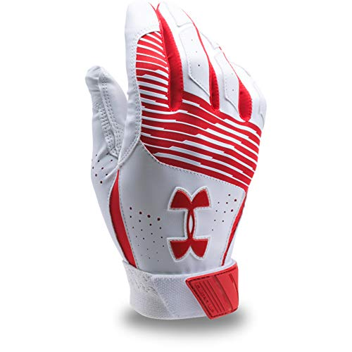 Under Armour Men's Clean Up Baseball Batting Gloves, Red (600)/Red, Small