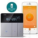 AWOW Termostato WiFi per Caldaia a Gas/Acqua,Termostato Intelligente Programmabile Con LCD Display,Controllo Remoto Smartphone Compatibile con Alexa/Google Home (Compreso Scatola 503)