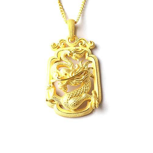 PRIMAGOLD(プリマゴールド) 24金メンズジュエリー 龍(ドラゴン)モチーフ 純金ペンダント ネックレス紐付き ...
